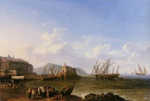 View of Lipari and Stromboli by Jacob Philipp Hackert
