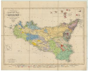 A geological map of Sicily
