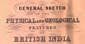 The full title for G.B. Greenough's Map of India