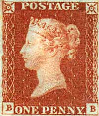 A Penny Red stamp