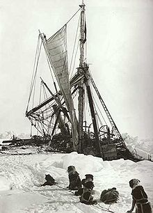The 'Endurance' trapped in ice