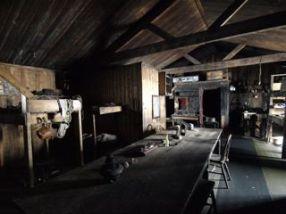 Inside Scott's hut