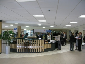 Remodelled main reception, Sir Kingsley Dunham Building, BGS Keyworth