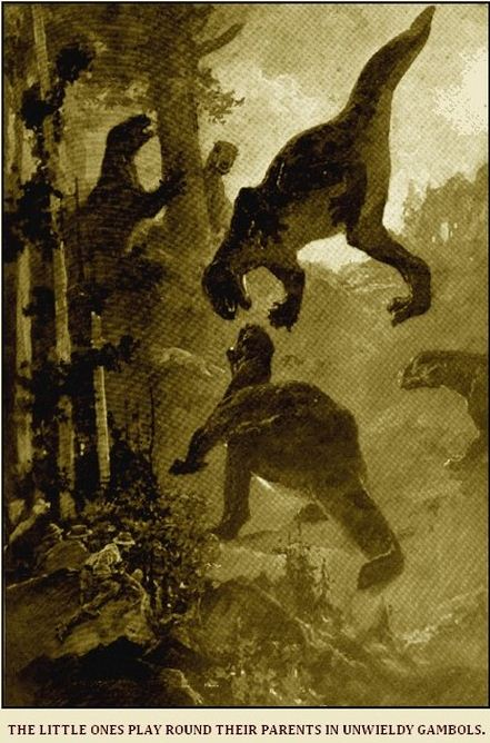 Illustration from Doyle's 'The Lost World', the Strand Magazine, 1912.