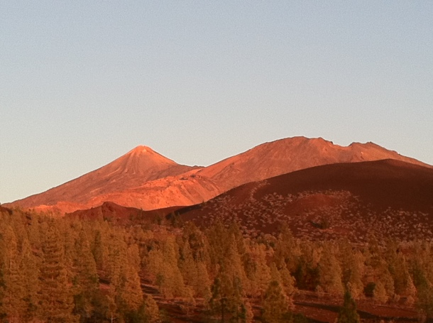 Teide at sunset.