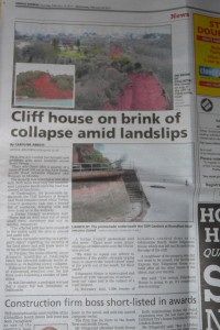 Geology is even big news at the local level!