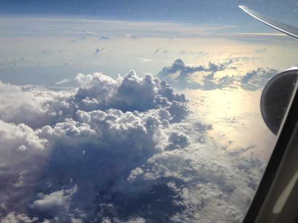Clouds over the Indian ocean.