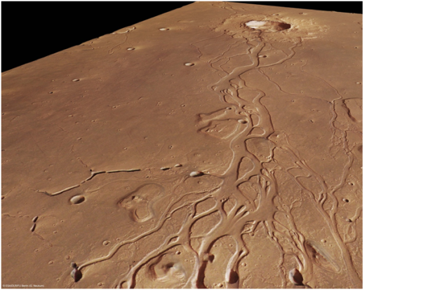 Martian channels. © ESA/DLR/FU Berlin (G.Neukum)