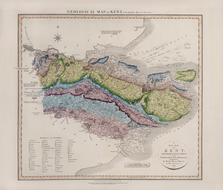 William Smith's Geological Map of Kent