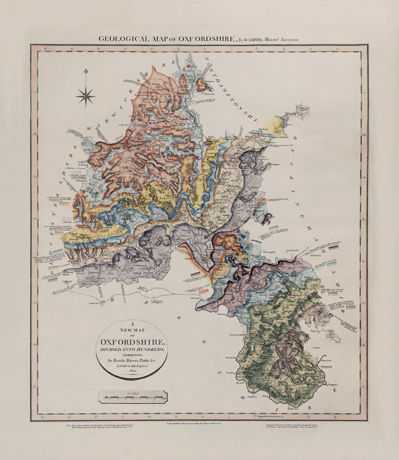 William Smith's Geological Map of Oxfordshire