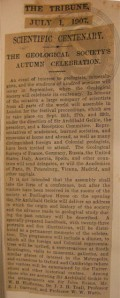 Newspaper cutting about centenary celebrations