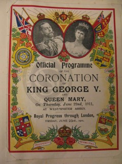 Programme for George V's coronation, 1911