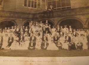 Photo taken at 6am following a dance at Sidney Sussex, Cambridge, 1905
