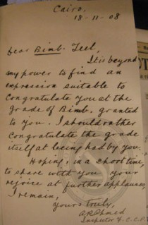 An effusive letter congratulating F Teall on his promotion to a new rank, 1908