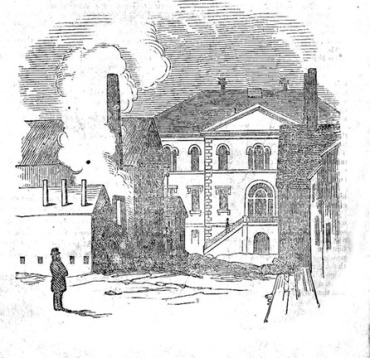 Harvard Medical School, viewed from Grove Street. (Daily Mail, 1850)