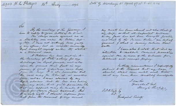Pentonville letter recto