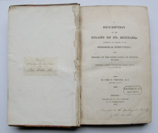 Copy of Webster's book, donated in 1822 and still held by the Library.