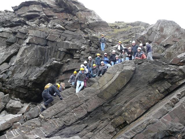 2nd: Ian Kenyon, 'Chevron folding in Carboniferous rocks at Millook Haven, near Bude, Cornwall'