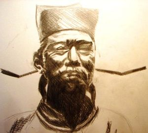 An artists impression of Shen Kuo