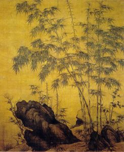 Bamboo and rocks by Li Kan (1244–1320)