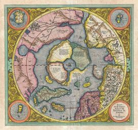 Gerard Mercator's map of the North Pole, 1606.