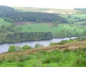 The Dale Dyke Reservoir today, having been rebuild in 1875.