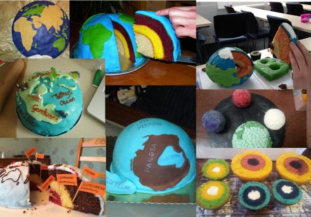 globe cake montage