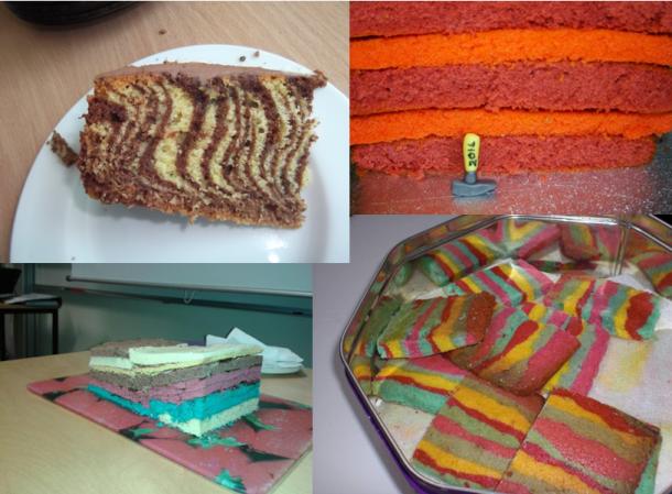 Sandstone layer cake montage