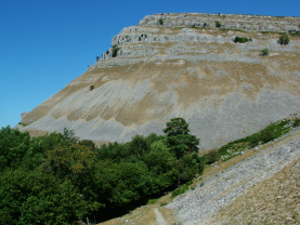 eglwyseg limestone cliffs