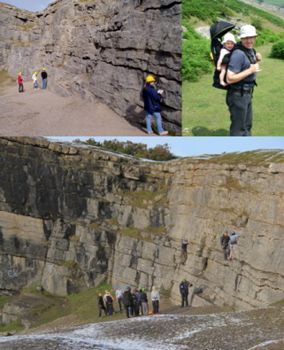 Geology students, walkers and climbers enjoy the geology