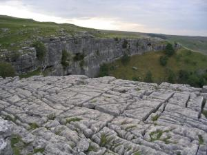 Limestone pavement at Malham Cove. Image Credit - Lupin, Wikipedia.