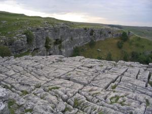 Limestone pavement at Malham Cove. Image Credit - Lupin, Wikipedia.