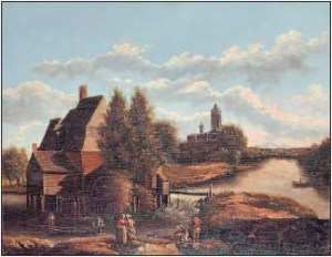 View of Caen by Alexandre Pau de Saint-Martin