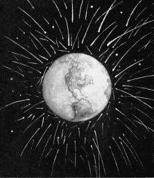Meteorite bombardment of earth, 1899. Published in Popular Science Monthly. Image Credit - Wikimedia Commons.