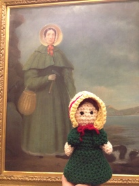 Mary Anning with traditional selfie