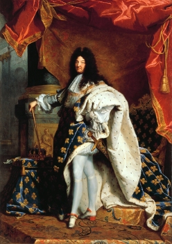 Louis XIV of France as painted by Hyacinthe Rigaud in 1701