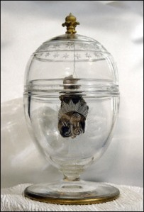 The heart of King Louis XVII of France as preserved at the Basilica of Saint Denis