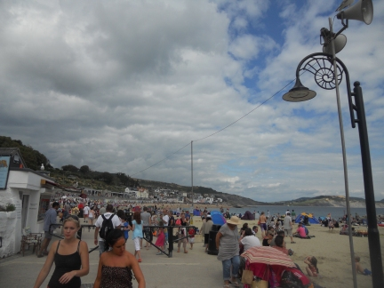 Lyme Regis showing ammonite-shaped lamp posts. Credit: Anthea Lacchia