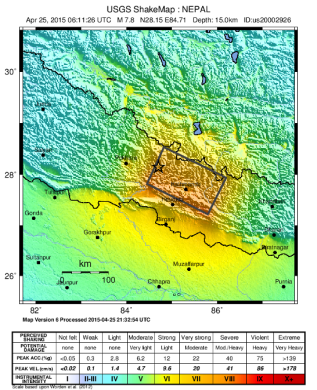 Nepal 2015_Nepal_earthquake_ShakeMap_version_6