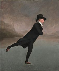 Side effects of the 'Little Ice Age': The Reverend Robert Walker Skating on Duddingston Loch, attributed to Henry Raeburn, 1790s
