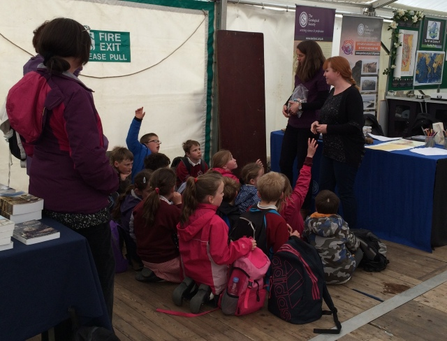 One of the many school groups to visit our stand