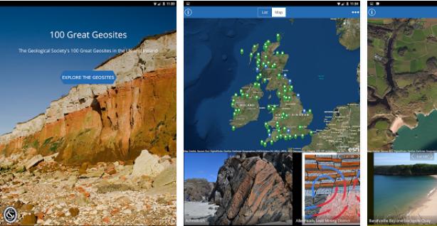 geosites app screen shot