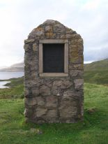 Monument to Peach and Thorne's work, at nearby Inchnadamph