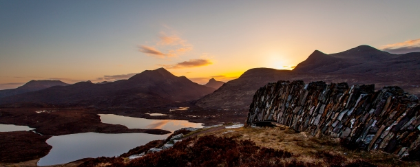 Image taken from Knockan Crag looking over Assynt towards Stac Pollaidh. c. Steven Gourlay