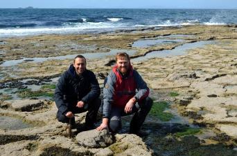 Steve Brusatte and Tom Challands c Mark Wilkinson.