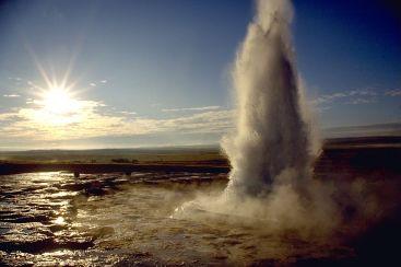 Strokkur geyser, Iceland (Wikipedia)