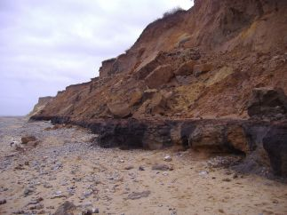 The cliffs at West Runton (Wikipedia)