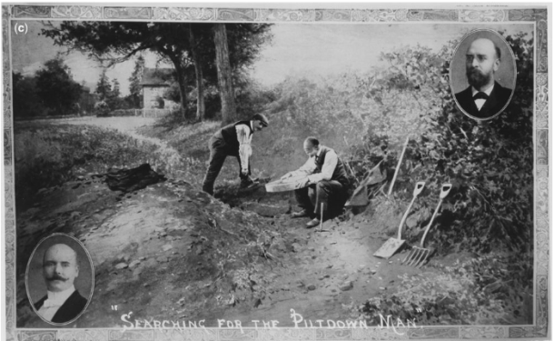 Dawson and Smith Woodward at the Piltdown site