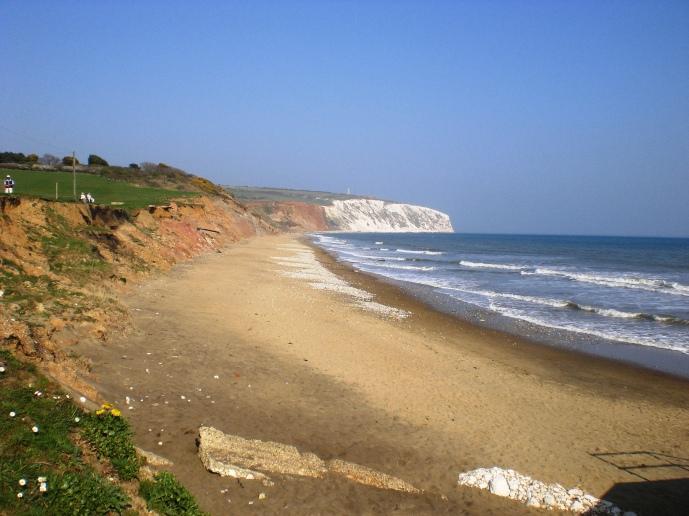 Yaverland_Beach_and_Culver_Down