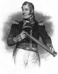 Thomas Cochrane, 10th Earl of Dundonald with eyeglass